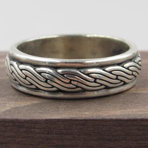 Jewelry - Size 12.5 Sterling Silver Thick Braided Band Ring
